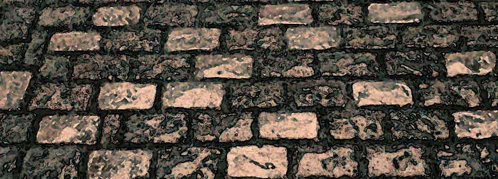 小さな庭の石畳の景